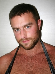 Solo session of alpha male with hairy chest
