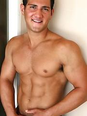 Cute college jock posing naked