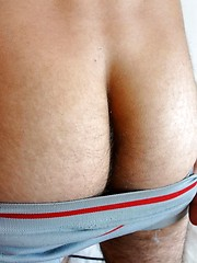 Alan has a surprise in his boxer briefs 10 inches of uncut cock
