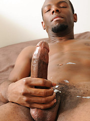 Skinny, black bottom boy Santana Delacuze coupling with Intrigue