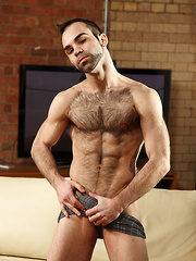 Andy Blue is Spanish with a juicy, hard uncut dick and extra hairy body