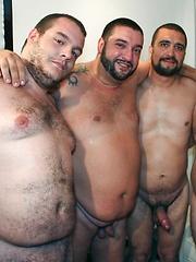 Spanish Bears Bukkake Gangbang